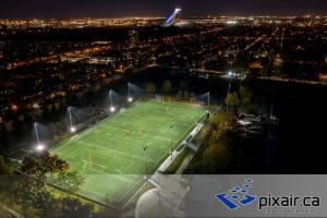 Terrain sportif photo aérienne