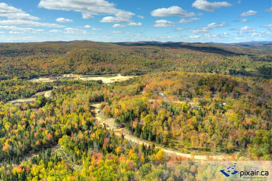 Photograpgie aérienne drone Ste-Marguerite du lac Masson
