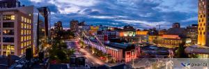 Montréal photo aérienne brunante