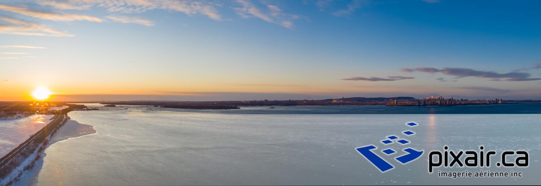 Panorama coucher de soleil